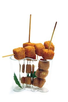 Spiedini ai quattro #formaggi #ricetta #antipasto