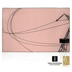 AWARD WINNING BLANKET, 100% Pure New Wool, pink & black, limited edition, 200 x 130 cm.