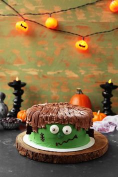 Halloween Frankenstein Cake - The Candid Appetite