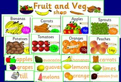 Fruit and Vegetable shop role-play pack (SB652) - SparkleBox