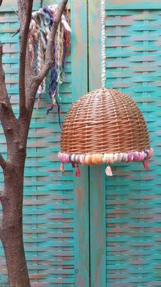 Lámpara de Mimbre, $420 en http://ofeliafeliz.com.ar