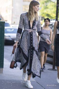 Уличная мода: Неделя в Нью-Йорке сезона весна-лето 2017: уличная мода