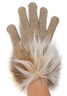 Faux fur trimmed gloves in all colors - Bridesmaid gift perhaps? $29 each