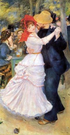 "Pierre-Auguste Renoir  painted ""Dance at Bougival"" in 1882-1883."
