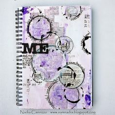 Donna Salazar Designs: Art Journal Page by ~Nadia Canizzo with how-to