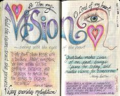 visual blessings: U-V-W Moleskine Journal Pages
