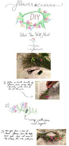 For Sure J'Adore: Flower Crown DIY