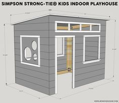 :: Crafty :: Wood :: How to build a DIY kids indoor playhouse with Simpson Strong-Tie