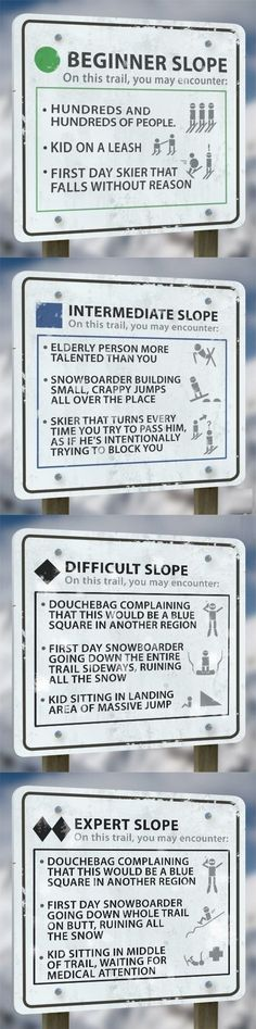 Ski Signs // funny pictures - funny photos - funny images - funny pics - funny quotes - #lol #humor #funnypictures