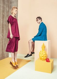 Cool background. #fashion #shoes #Eureka #SS2016 #pineapple