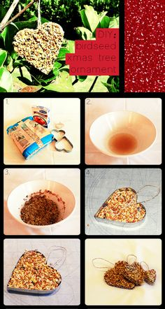 So much better than messy peanut butter. And healthier than using glue. 12 Days of Christmas: DIY birdseed xmas tree ornament 12 Days Of Christmas, Christmas Crafts For Kids, Outdoor Christmas, Holiday Crafts, Holiday Fun, Christmas Ornaments, Holiday Ideas, Christmas Ideas, Bird Seed Ornaments