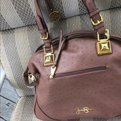 LEATHER JESSICA SIMPSON PURSE New! Leather brown Jessica simpson handbag Jessica Simpson Accessories
