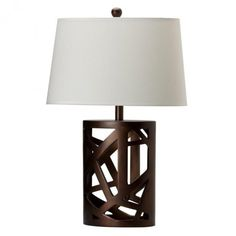 3F7901256PG - Brown Coffee Finish Table Lamp - Furniture2Go/95
