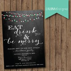 Christmas Party Invitation Christmas Party Invite by LaLunaDesigns, $15.00