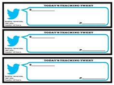 Tweets About Today's Lesson: Fun activities to check students learning and progress