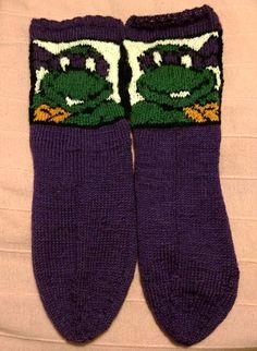 Turtles-sukat, lankana Novita Nalle ja Gjestal Maija.