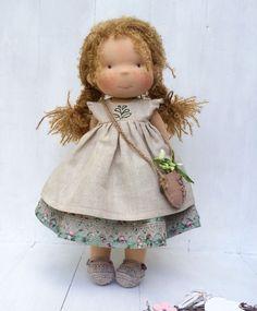 Купить Кэти Фигенфайер - вальдорфская кукла, waldorf doll, taisoid, waldorf puppe, шерсть, хлопок