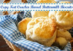 Cooking With Libby: Cracker Barrel's Buttermilk Biscuits {Copy Kat} Just like the real thing!!