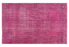 """8'11""""x5'8"""" Turkish Knotted Rug, Pink"""