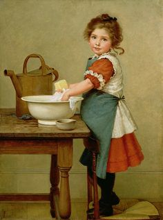 George Dunlop Leslie This Is the Way We Wash Our Clothes print for sale. Shop for George Dunlop Leslie This Is the Way We Wash Our Clothes painting and frame at discount price, ships in 24 hours. Vintage Pictures, Vintage Images, Odd Pictures, Vintage Prints, Vintage Art, Decoupage Vintage, Beautiful Paintings, Oeuvre D'art, Vintage Children