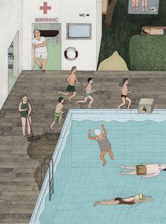 Sophia Martineck's Lifeguard Illustration