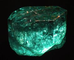 "The ""Gachala Emerald"" Weighs 858 carats. This gem-quality treasure has been called ""one of the most beautiful emerald gemstones ever known,"" and was discovered in 1967 at the Vega de San Juan mine in Colombia."