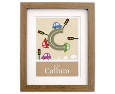 Personalized nursery  C is for Cars wall art  unique by Doodlebump, £18.00
