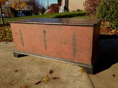 Antique Dauphin County PA Painted Blanket Chest Spectacular Circa 1800 | eBay