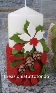 Christmas felt candle wrap