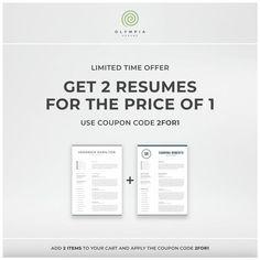 Modern Resume Template Creative CV with Photo 1 2 Page One Page Resume Template, Creative Resume Templates, Modern Resume Template, Creative Cv, Cover Letter For Resume, Cover Letter Template, Letter Templates, Templates Free, Resume References