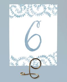 Printable Wedding Table Numbers - Dusty Blue Table Numbers, Swirl , Cornflower Blue Table Numbers, Vine Table Numbers - Numbers 1-15 von LeveretPaperie auf Etsy https://www.etsy.com/de/listing/199530805/printable-wedding-table-numbers-dusty