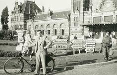 Locatie's-Hertogenbosch, Stationsplein ; BeschrijvingBewegwijzering van de Duitse bezettingstroepen tijdens de Duitse bezetting. Datering1942 Fotograaf:Onbekend