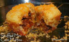 Recipes For My Boys: Stuffed Mini Corn Muffins