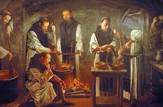 Monasterio products Cistercian monks working on chocolate (Monasterio de Nuestra Señora de Piedra