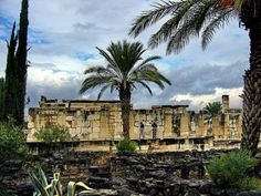 Capernaum located on the north shore of the Sea of Galilee in Israel.