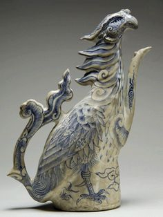 This phoenix stoneware ewer was among the 240,000 Vietnamese trade ceramics and artifacts recovered from the Cu Lao Cham shipwreck National Museum of Vietnamese History, Hanoi.