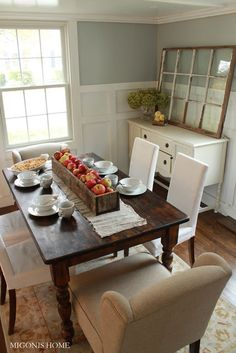 Love This Kitchen Table And Wall Color But Dont Like The Chairs With It