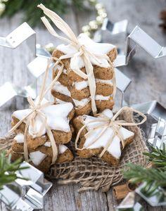 Christmas Food Gifts, Christmas Desserts, Christmas Cookies, Christmas Time, Biscotti Cookies, Yummy Cookies, Star Cookies, Cupcake Cookies, Herb Co