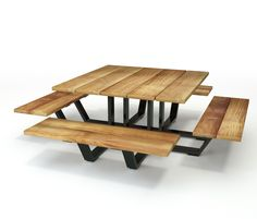 The table top dimensions are 145cm x 145cm and the overall size is 251 cm x 251 cm.