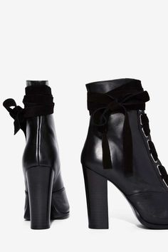 Nasty Gal Take a Hike Leather Boot - Black - Boots + Booties   Festival Shop   Power Player   All Party   Booties + Accessories   All Vintage Tees + Denim