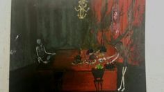 acrylic painting anorexia