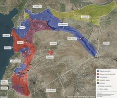 June 6, 2013 - MAP - INFOGRAPHIC - INTERACTIVE - CONFLICT MAP - The map above, produced by the Syria Needs Analysis Project (SNAP), is based on a combination of reports compiled by the UN Department for Safety and Security (UNDSS), who have staff in Syria, together with other sources.