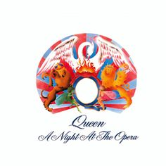 A Night at the Opera by Queen has one of the most known songs ever, Bohemian Rhapsody. Freddie Mercury is one of the most known singers and song writers in the decade of the due to his genius creations, like Bohemian Rhapsody. Queen Album Covers, Music Album Covers, Music Albums, Box Covers, John Deacon, Freddie Mercury, Lps, Albums Queen, Andreas Kisser