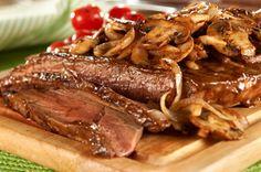 new york recipes | New York Style Steak with Mushroom Saute Recipe - Kraft Recipes