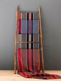 Zuni by Osborne and Little Boutique Interior Design, Interior Design Studio, Osborne And Little, Fabric Wallpaper, Ladder Decor, Weaving, Textiles, Stripes, Crafts