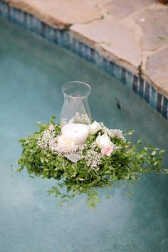 #candles, #pool    Photography: Troy Grover Photographers - troygrover.com    Read More: http://stylemepretty.com/2013/03/08/backyard-wedding-from-troy-grover-photographers/