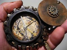 Never miss your dirigible again!  Steampunk styled pocket watch