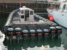 The official boat of a professional drug smuggler. This one has 8 2000 Yamaha outboard engines with 250 h.p each!