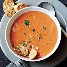 Tomato-Basil Soup | CookingLight.com