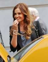 """Gloria Votsis on location for """"White Collar"""" on the streets of Manhattan on May 10, 2010 in New York City."""